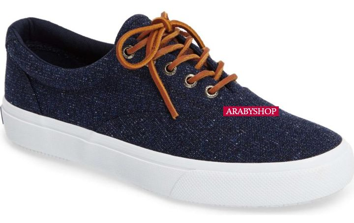 3. Sperry 'Striper LL' Sneaker in Navy Blue Salt-Washed Canvas