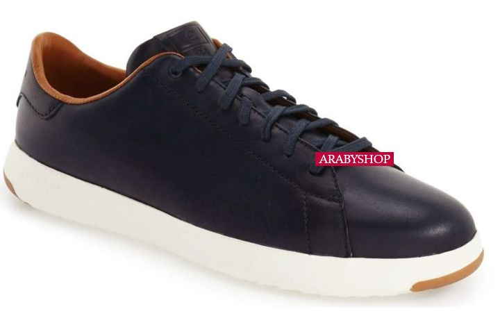 4. Cole Haan 'GrandPro' Blue Leather Tennis Shoes